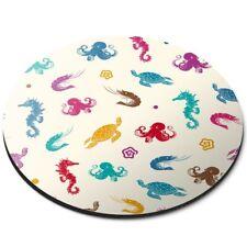 ROUND Tappetino mouse-Octopus TARTARUGA CAVALLUCCIO MARINO Gamberetti MARE #45905
