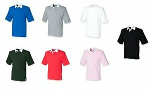 Front Row Short Sleeve Cotton Rugby Shirt Small - 2XL   FR003