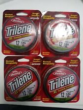 4 Pack of Berkley Trilene Xl Low Vis Green Fishing Line, 12 lb Test, 300 Yds