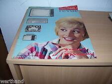 Grundig Revue 1962 /63 1963 seltene Rarität Katalog Tonband Preisliste Radio  TV