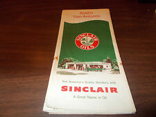 1959 Sinclair Austin/San Antonio Vintage Road Map