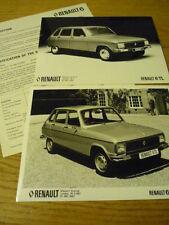 RENAULT 6 PRESS RELEASE & PHOTOS  Brochure Related jm