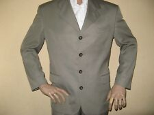 BEIGE RIVER ISLAND PURE WOOL SINGLE BREAST FASHION SUIT 40R CHEST 32 WAIST 30LG