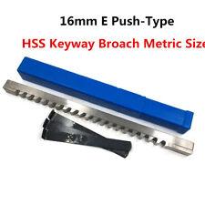 Keyway Broach 16mm E Push Type Metric High Speed Steel Cutting Tool Metalworking