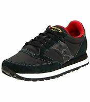 SCARPE SNEAKERS UOMO SAUCONY ORIGINAL JAZZ 2044-251 BLACK RED PELLE AI NUOVO
