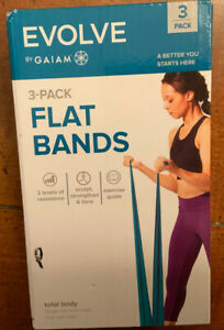 Evolve By Gaiam 3-Pack Flat Bands Light, Medium, And Heavy Bands Brand New