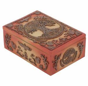 TREE OF LIFE DECORATIVE BOX / STUNNING PAGAN / WICCA / BUDDHIST / GIFTS UK