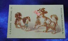 Ephemera Silk AD dog carrys Pink Love heart letter Cavalier King charles spaniel