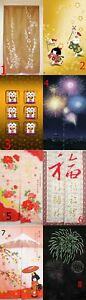 Japanese Noren Tapestry Door Curtain Chinese LUCKY CAT RED BLUE NAVY