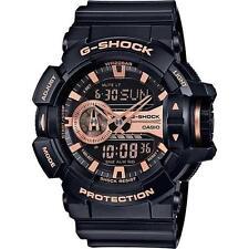 CASIO G-SHOCK, GA400GB-1A4 GA-400GB-1A4, ANALOG DIGITAL, BLACK x ROSE GOLD TONE