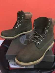 *** Men'sTimberland Premium Icon 6 Inch Boots Green Olive Waterproof A17XP ***