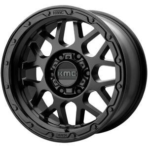 "KMC KM535 Grenade Off-Road 18x8.5 5x120 +35mm Matte Black Wheel Rim 18"" Inch"