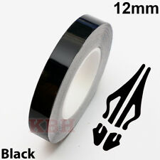 "12mm x 9.8m Pinstripe Solid Pin Stripe Tape Decal Vinyl Sticker Car 1/2"" Black"