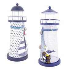 Nautical Lighthouse Candle Holder Seabird & Boat Lanterns Housewarming Gift