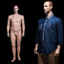 Male Adult Plus Size Fiberglass Realistic Mannequin With Molded Hair Amp Face