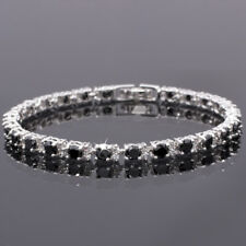 Women Hot Sale Rhinestone Round Cut Black Onyx Tennis Fashion Bracelet