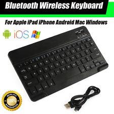 DEUTSCHE QWERTZ Kabellose hinterleuchtet Bluetooth-Tastatur Tablet Smartphone PC