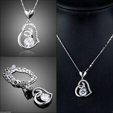 Versilberte Ausdrucksstarke Modeschmuck-Halsketten & -Anhänger mit Herz