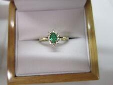 BEAUTIFUL ESTATE 14 KT GOLD EMERALD AND DIAMOND RING !!!!!!!!!!