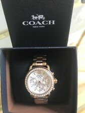 Coach Womens Rose gold Tone Stainless Crystal Glitz Chronograph Watch