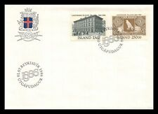 Iceland 1986 FDC, Centenary of the National Bank of Iceland. Lot # 3.