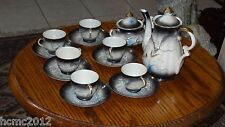 Japanese Antique Dragon Teapot, Sugar Bowl, Creamer and Cups