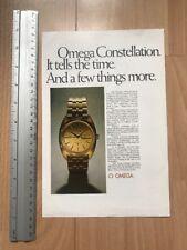 Omega 1970 Advertisement Pub Ad Werbung