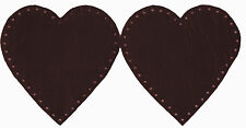 BURGUNDY - HEART  SHAPED - 100% LEATHER - ELBOW PATCHES