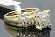 10K YELLOW GOLD 1.06 CT WOMENS REAL DIAMOND ENGAGEMENT RING WEDDING BRIDAL RING