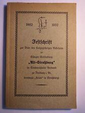 Alt-Straßburg / Freiburg - Arion Gesangverein - Festschrift 1882-1932