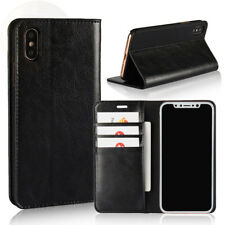 Iphone X Case Genuine Leather Wallet Case Book Design With Flip Cover And New