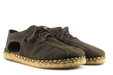 DRIES VAN NOTEN Womens EU 41 Khaki Canvas Espadrille Style Open Sided Used Shoes