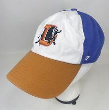 47 Brand Durham Bulls OSFA Strapback Hat Orange Blue White