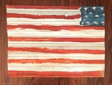 R.A. Miller American Flag Metal Outsider Folk Art