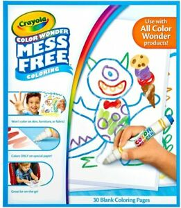 Crayola Color Wonder Drawing Paper-30 Sheets Mass Free Playing Time