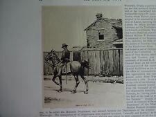 "Great B/W Print - ""Officer Of Staff, 1861-64"" by William Walton, 1890 by G.B."