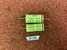 Pair ex TANNOY Golds crossovers ITT 6.8uF 100V capacitors capacitor (261268)