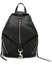 NWT REBECCA MINKOFF Full Size Julian Backpack BLACK/Gold Leather Bag $295+ AUTH