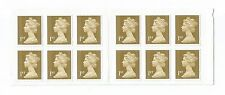 Royal Mail  . 12 1ST Class Gold STAMPS . . Brand New Postage pack UK First