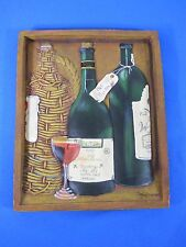 Vintage Wine Cabinet Porcelain Frame Depiction by Nancy Wiceman