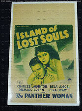 ISLAND OF LOST SOULS 1932 * BELA LUGOSI * CHARLES LAUGHTON * HORROR WINDOW CARD!