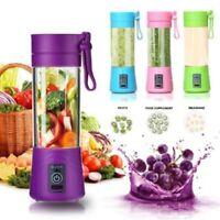 Portable Fruit Juicer Shaker Bottle Electric Juicer Smoothie Maker Blender Pink