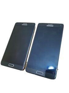 2 x Samsung Galaxy Note 4 SM-N910F - 32 Go - black (Désimlocké)
