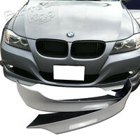 Painted #354 Silver Fit For BMW 3 SERIES E90 LCI OE FRONT LIP SPLITTER 09-11