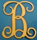"""14"""" Wooden Interlocking Vine Letter Unfinished Wood Room Decor Custom Letter"""