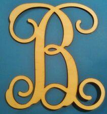 32in. Wooden Interlocking Vine Letter Unfinished Wood Room Decor Custom Letter