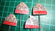 Tiemen Groen 1964 stick pin badge 60's lapel Dutch cycling wielrennen 4pcs