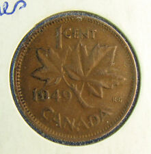 1949 small cent Canada A to Denticles fine +
