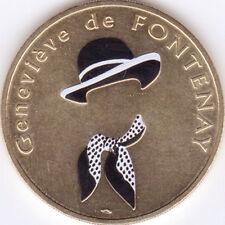 75009 PARIS GENEVIÈVE DE FONTENAY MÉDAILLE COULEUR MONNAIE DE PARIS JETON TOKEN