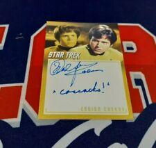Star Trek TOS Archives & Inscriptions A9 Walter Koenig Inscription Autograph